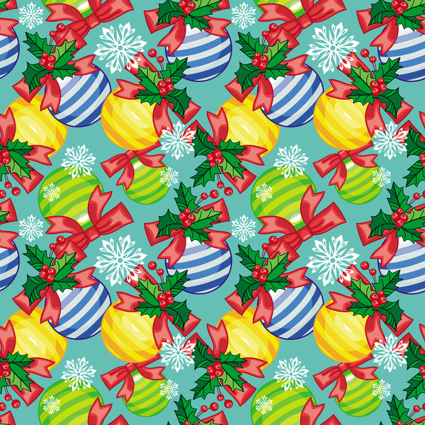 seamless pattern christmas ball