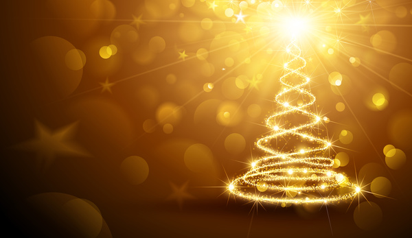 halation golden glow christmas tree
