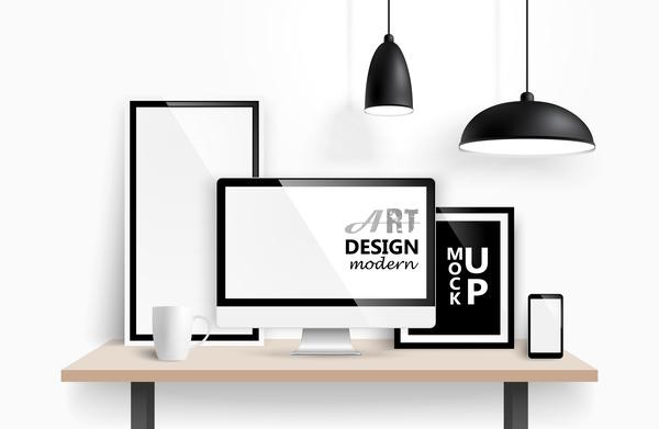 monitor lamp desk
