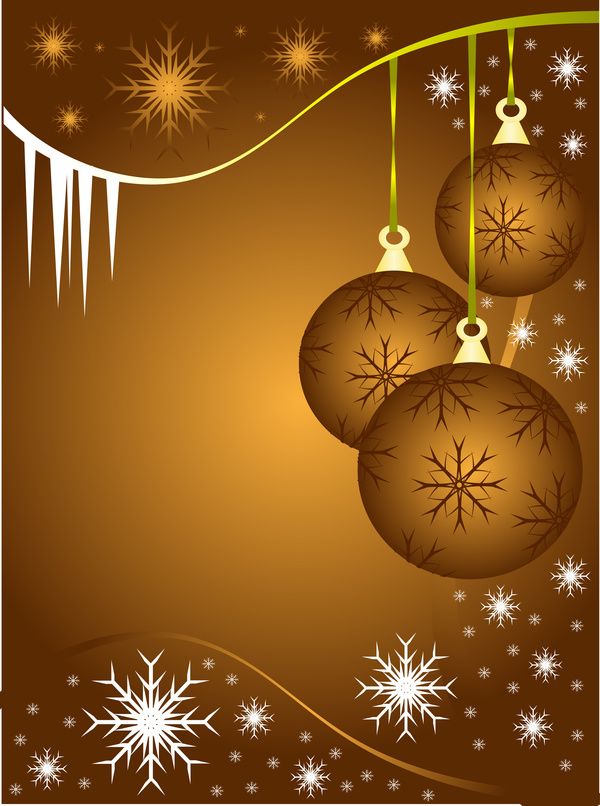 45savshacoigc47 Christmas ball with snowflake abstract background vector