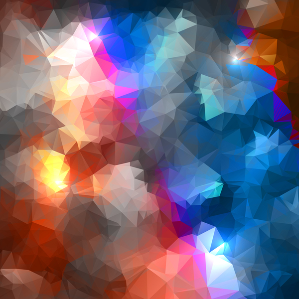461d2jkpskf1u47 Polygon geometric colorful background vector 05