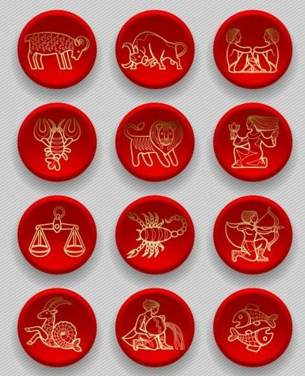 zodiac red icons