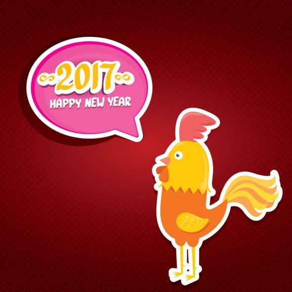 year speech rooster new funny bubbles 2017