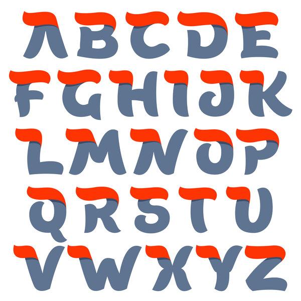 script letters alphabet
