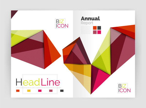 polygon Geometry cover brochure abstract