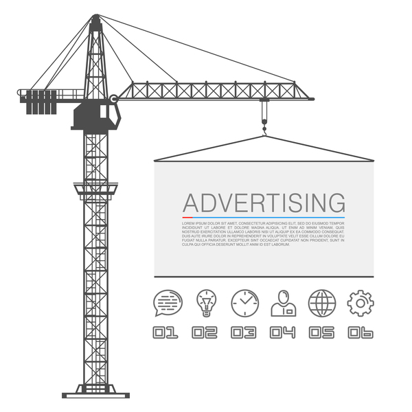 lifts crane board advertising