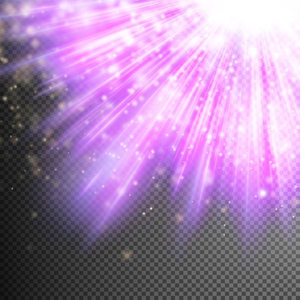 rays purple light