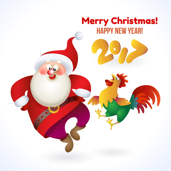 year santa rooster new christmas 2017