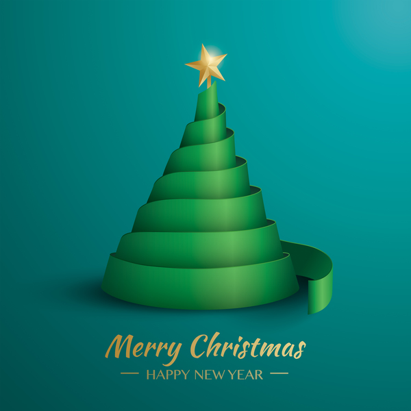 tree ribbon christmas