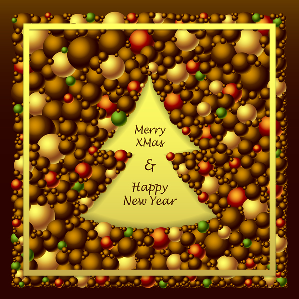 red merry gold from Frem christmas brown balls