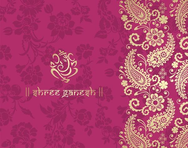 pink pattern indian ethnic