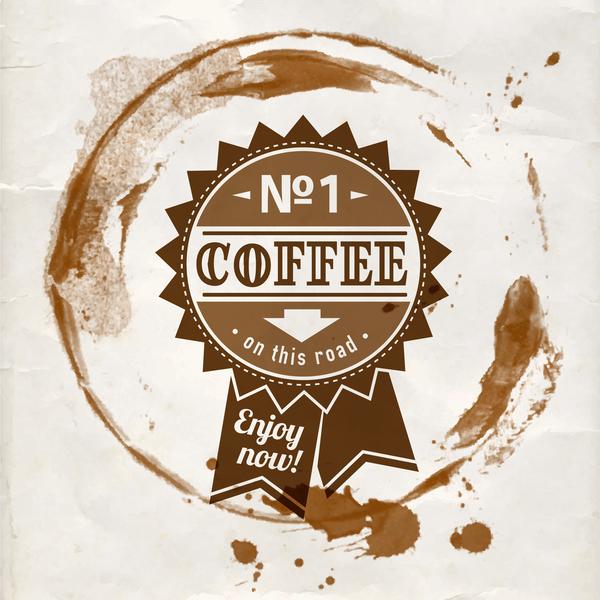 vintage labels grunge coffee