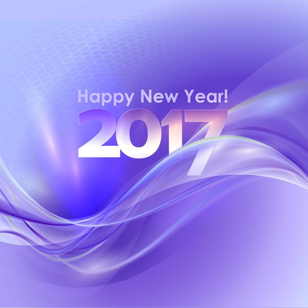purple new year happy 2017