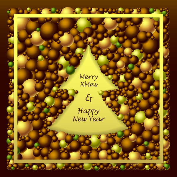 merry green gold from Frem christmas brown balls