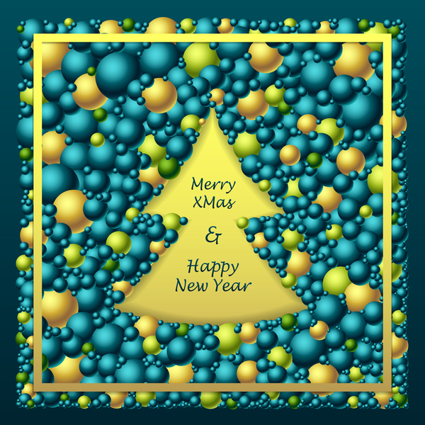 merry green gold from Frem christmas blue balls