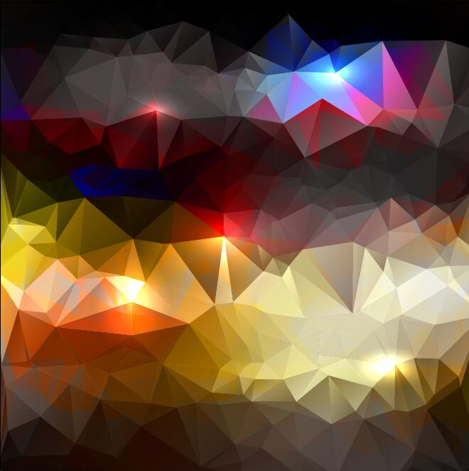 155diohgjmny454 Polygon geometric shining vector background 03