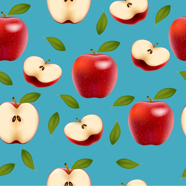 slice seamless red pattern apple