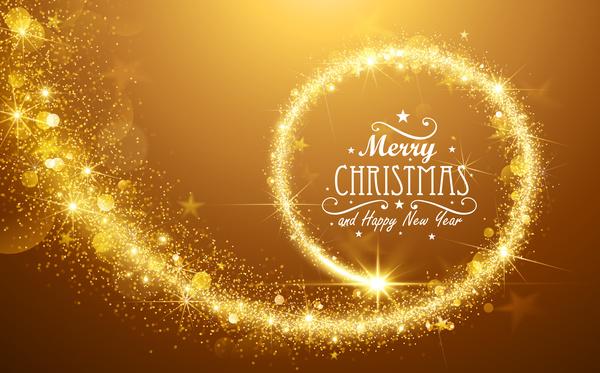 swirl light golden christmas