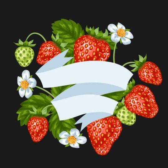 white strawberries ribbon