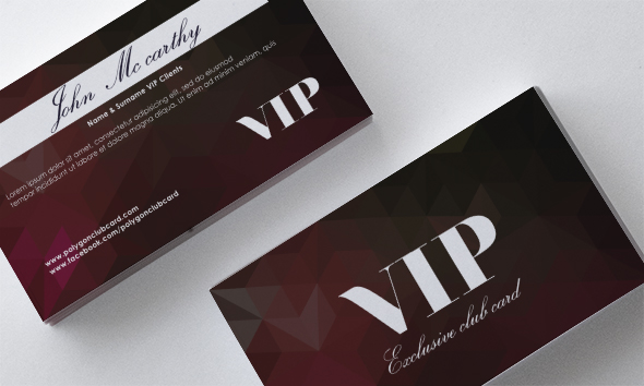 vip polygon front Darkred card back