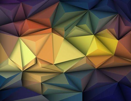 575eagx1lnrzj56 3D Geometric polygonal triangle pattern vector 03