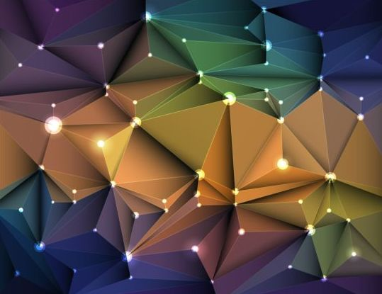 103ibj5er2nlw57 3D Geometric polygonal triangle pattern vector 02