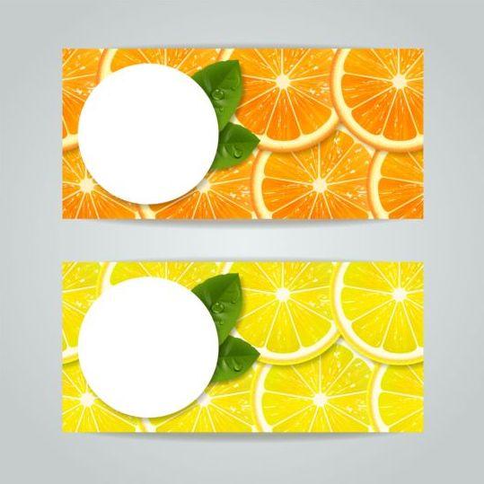 slice oranges lemon banner