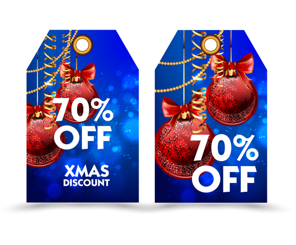19xid3aycegsk58 Blue styles christmas discount tags vector