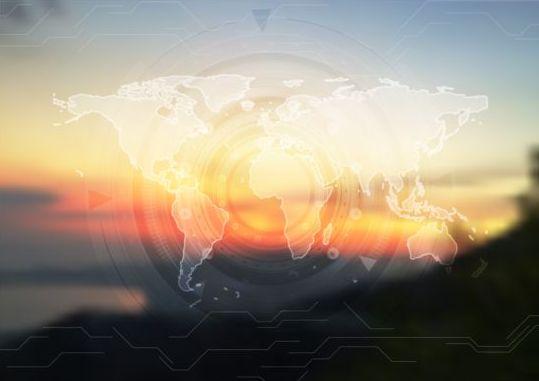tech sunset map blur