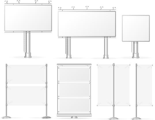 30kphpx3dcpt159 Media billboards modern design vector 03