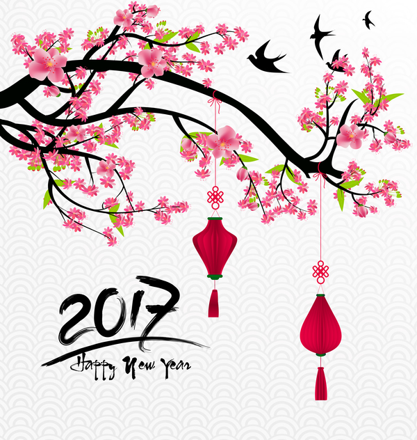 year new flowers chinese 2017