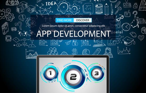 App develppment infographic vectors 0146 App develppment infographic vectors 01