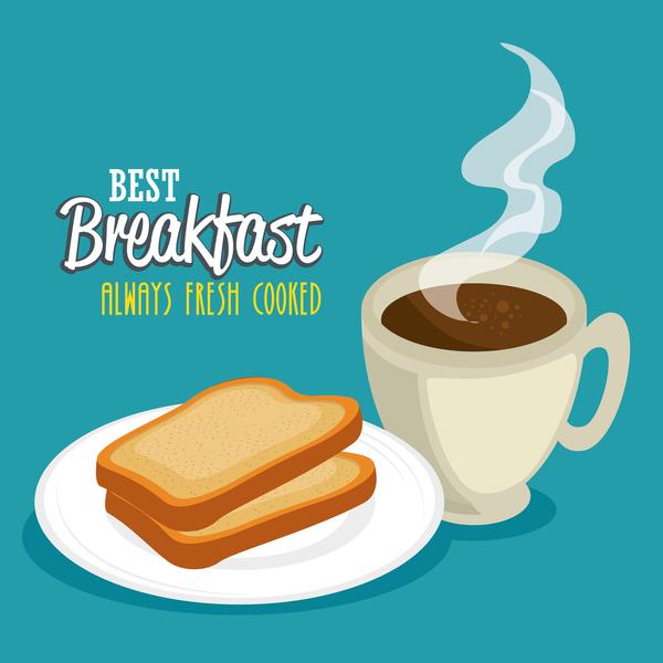 Best breakfast with coffee vector 0151 Best breakfast with coffee vector 01