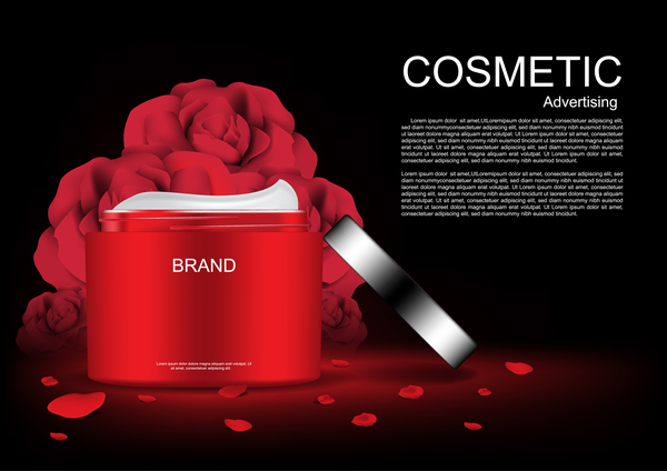 whitening poster cream cosmetic ads